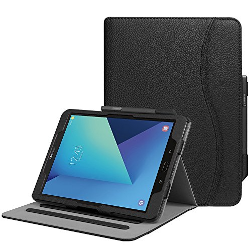 "Fintie Samsung Galaxy Tab S3 9.7 Cover, [Multi-angli] Folio Smart Cover Pieghevole Custodia con Funzione Auto Sleep/Wake per Samsung Galaxy Tab S3 9.7"" LTE Tablet, Nero"