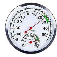 szdealhola - Termómetro de Acero Inoxidable con Esfera de 125 mm, para Uso en Interiores