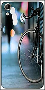 Snoogg Bicycles Digital Art Designer Protective Back Case Cover For HTC Desire 728