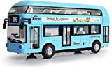 #9: Sajani Classic Double Decker London Bus with Metal Die-Cast Luxury Pull Back Bus with Light & Music Sound.for Kids 3 Years(Multi Color- Color May Vary)