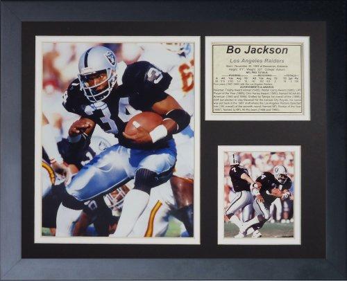 Legends Never Die BO Jackson, Rahmen für Foto Collage, Schwarz, 11x14 (Malen Glas-schild)