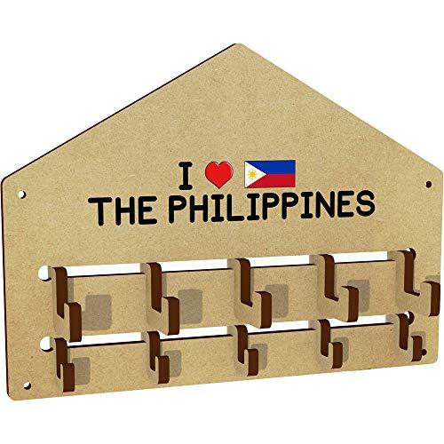 'I Love The Philippines' An der Wand befestigter Kleiderhaken / Gestell (WH00000821) - Philippinen Mantel