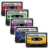 Kassette als Einladungskarten Kassetten Einladung - 4 Farben zur Auswahl Geburtstag Party 50 Stück Musikkasette CD Schallplatte cassette Mann Frau