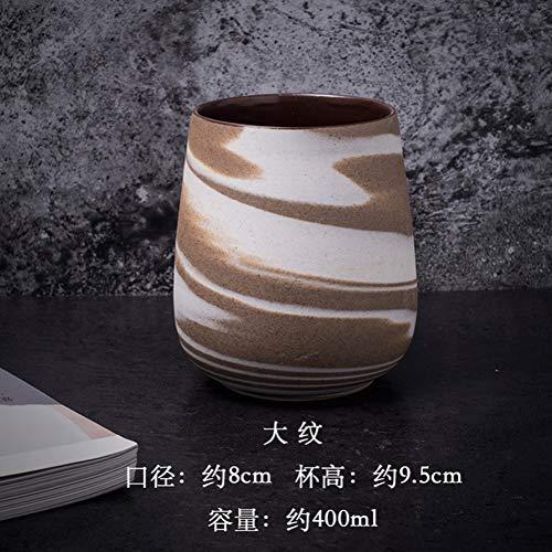 Erjialiu 400 Ml Kaffeetasse Keramik Grob Keramik Drink Master Frühstück Milch Saft Tasse Vintage Wasser Tassen Als Geschenke,Stil A -