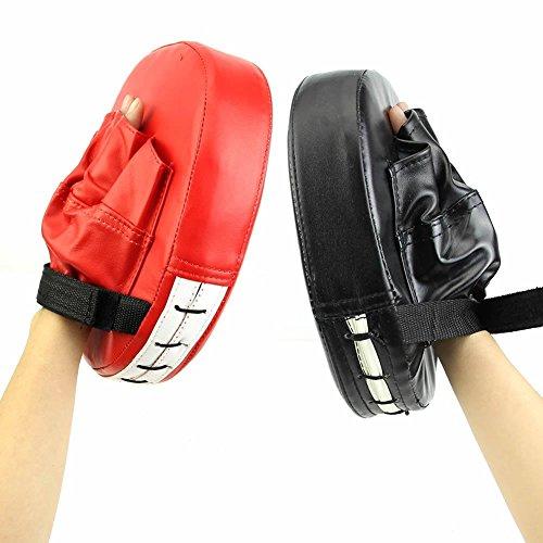 Boxen Pads, PU Focus Punch Handschuh Training Target Stanz Handschuhe für Kinder Kinder Herren Frauen Karate Muay Thai, Schwarz  (Punch Pad)
