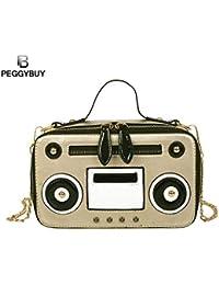 HITSAN INCORPORATION Creative Women Handbags Cartoon Cute Radio Design  Chain PU Leather Shoulder Bags Casual Female 81a647721d