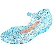 Vokamara Elsa Zapatos de Niña de Vestir Zapatos de Jalea con Cuña