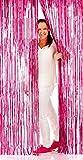Folat Vorhang Lametta pink , 2 x 1 m