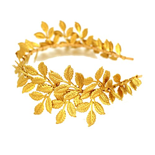 OUMOU Gold Bündchen Olivenzweig Lässt Hochzeit Kopfstück Für Pompöse Bridal Ball