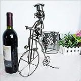 KQS-XYT Fahrrad-Modellierung Weinregale Metall Handwerk Hand zu Hause Möbel zu bauen