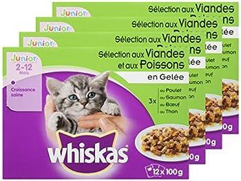 Whiskas Fraîcheur en Gelée pour Chaton 12 x 100 g 4 Sachets - Lot de 4