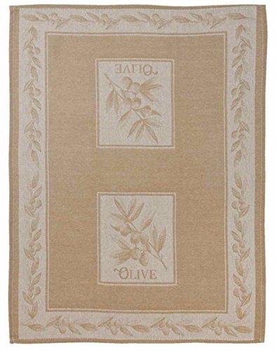 Clayre & Eef KT042.008N Küchentuch Geschirrtuch Geschirrhandtuch Olive natürlich ca. 50 x 70 cm