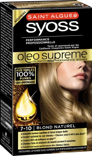 syoss saint algue olo suprme coloration permanente 7 10 blond naturel - Syoss Coloration