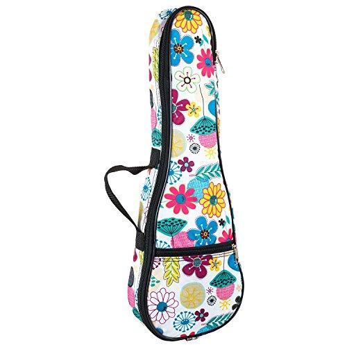 Tomandwill 63UKS Sopran Ukulele Gig Bag - Blumen Design