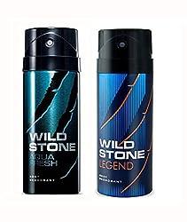 Wild Stone Aqua And Legend Deodorant For Men (150 ML)