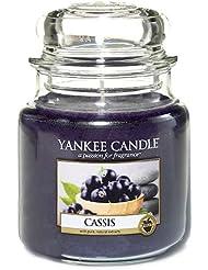 Yankee Candle 1332226E Bougie parfumée senteur Classique Cassis en jarre Rouge