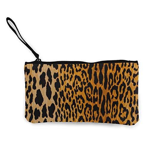 TTmom Carteras de Mujer, Monedero, Coin Purse Leopard Animal Prints Girl Zip Canvas Small Purse ChangeTrendy Holder