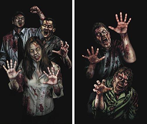 Zombie Asyl - Unbekannt WOWindows Fenster-Aufkleber, Zombie-Asyl,