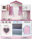 Leomark Pink Play Große HolzKÜCHE Fur Kinder 82x30x101 KinderKÜCHE SpielKÜCHE Zubehör Kitchen KinderspielKÜCHE Spielzeug KÜCHE Aus Holz - 2