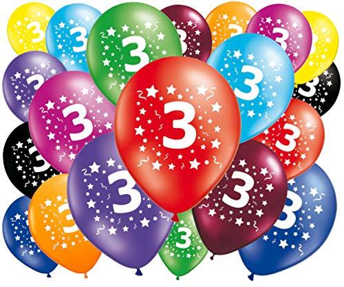FABSUD–Lote de 20Globos cumpleaños 3años