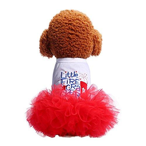 Everpert Süße Herbst Sommer Pet Hunde Kleidung bestickt -