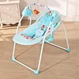 Anself Electric Baby Cradle Swing Rocking Connect Mobile Play Music Chair Sleeping Basket Bed Crib for Newborn Infant