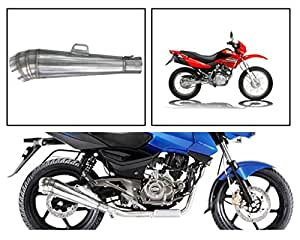 Vheelocityin 83868 Pipe Style Motorcycle Exhaust for Hero Impulse