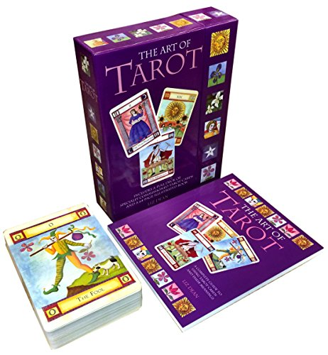 The Art Of Tarot Cards Collection Box Gift Set Includes 78 Tarot Cards With 64 Page Booklet - Understand Tarot Reading And It Meaning Using The Art Of Tarot Card, Learn Mind Body Spirit Psychic, Major Minor Arcana Cards, Angle, Romance, Theraphy Card