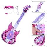Tosbess Guitare Électrique Enfant, Jouet Guitare Électrique avec Microphone, Instrument de Musique éducatifs pour Débutant Enfant Garcon Fille de 3+ Ans