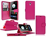 PIXFAB ZTE Blade V7 Pink Leather Flip Stand Wallet Phone