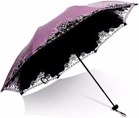 CNBBGJ Ombrello ombrello pieghevole in plastica nera ombrello creative creative creative femmina a doppio uso super sun prossoection ombrello pizzo,Malus rosso   Distinctive    durabilità  ea612f