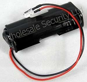 Batterie Rouge clignotant LED Idéal pour sucette Bell Boîte ou voiture