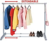 Tatkraft Party Telescopic Clothes Rail Extendable Space Chrome Plated Steel 150X44X166cm Be ready for the party!