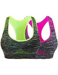 Sujetador Deportivo Acolchado Desmontable para Mujer, Ropa Interior, Soporte de Costura, Ejercicio, Sujetador de Yoga, Ropa Interior