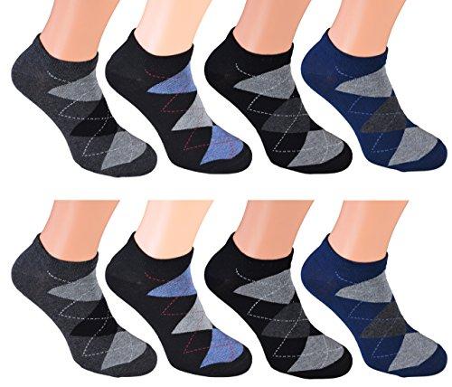 8 Paar kurze Sneakers-Socken für Herren Markensocken von Cocain - 6 verschiedene Top-Modelle wählbar Größen - die modische Sommersocke für Ihn Gr.43-46 (Blaue Und Graue Für Nike-schuhe Männer)