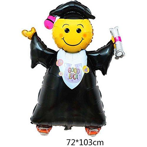 ximkee helio Foil hinchable graduación Boy globos fiesta decoración supplies-40 'X2Pcs