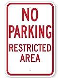 Eugene49Mor No Parking Sperrbereich Schild 45,7x 61cm 3m Hohe Intensität Prismatischer Reflektierend. von