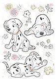 Komar Hochwertiger Deco-Sticker Best of Friends GrÃße 50 x 70 cm (Breite x HÃhe), 20 Teile, rückstandsfrei abzulÃsen und wiederaufklebbar, Made in Germany, Schwarz, Weiß, Rosa, 14055H