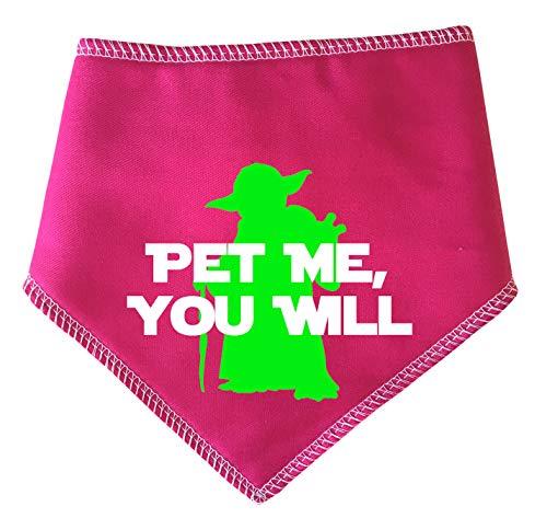 alstuch für Hunde, Star Wars Pet Me You Will Yoda Spruch - Pink inspiriert von Yoda ()