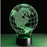 Amerika karte 3d lampe 7 farbe led nachtlampen für kinder touch led usb tabelle baby schlaf nachtlicht baby schlafzimmer