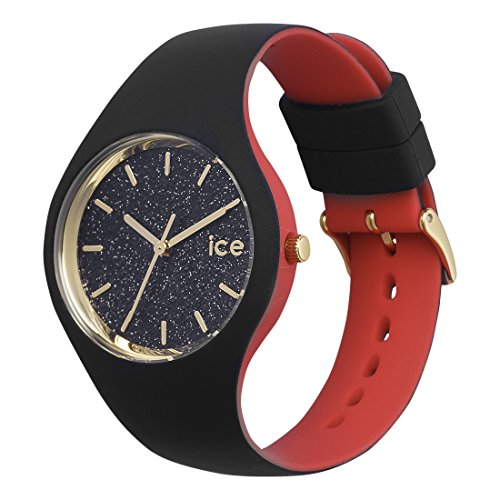 Ice-Watch – ICE loulou Black Glitter – Women's wristwatch with silicon strap – 007227 (Small)