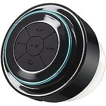 Bluetooth Ducha altavoz, Dland impermeable a prueba de choques de altavoces estéreo inalámbrico Bluetooth incorporado Mini Mic para parejas con altavoz portátiles Corriente radio FM con todos los smartphones inalámbrico con altavoz - Música y diversión Indoor & Outdoor