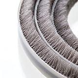 STEIGNER 5m Bürstendichtung Grau - selbstklebend, extralang, Türbodendichtung Zugluftstopper Türdichtung, Höhe 20mm