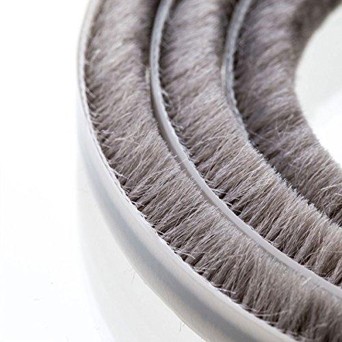 STEIGNER 5m Bürstendichtung Grau - selbstklebend - Höhe 4mm