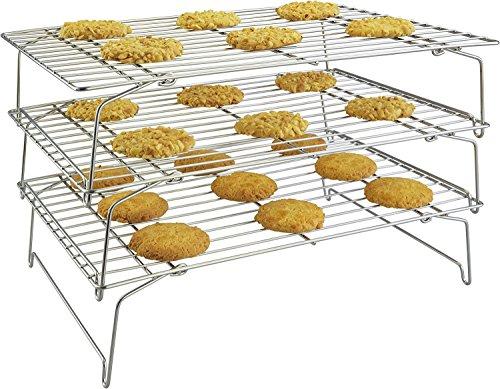 surpahs 304Edelstahl der Güteklasse 3-Tier-stapelbar Kühlung Rack Set (Tier-rack-kühlung)