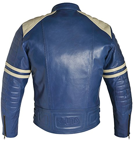 GUNS Vintage Blouson Homme, Bleu, L Bleu