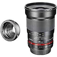 Walimex Pro 35mm 1:1,4 CSC-Objektiv für Pentax Q Objektivbajonett schwarz (manueller Fokus, für Vollformat Sensor gerechnet, IF, Filterdurchmesser 77mm, mit abnehmbarer Gegenlichtblende)