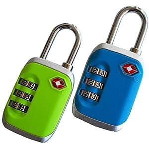 Globeproof® Kofferschloss TSA zertifizert mit Zahlenschloss – Gepäckschloss / Nummernschloss im 2er Set