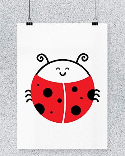 Hippowarehouse Ladybird Cartel Impreso Pared Arte