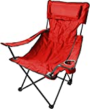 Robuster Camping Outdoor Angler Klappstuhl Outdoor Farbe Rot Deluxe